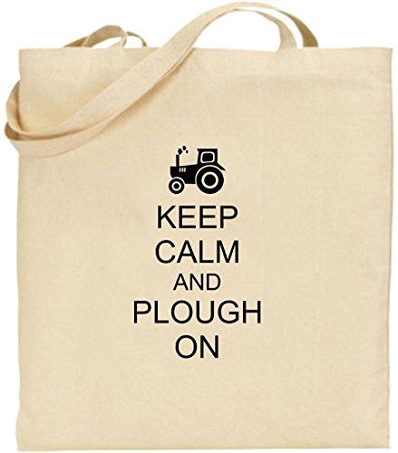 Large Black Fun Cotton Plough Present Keep Shopping Tote And On Calm Xmas Farming Bag qfFHI