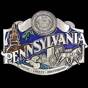 (Pewter Belt Buckle - Pennsylvania - Pewter Belt Buckle)