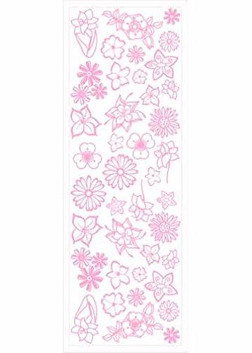 - Pergamano Flowers Rub-On Transfer Sheet, Pink