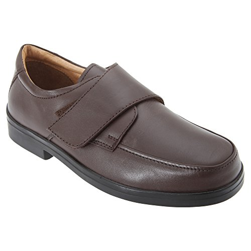 Passform Klettverschluss Roamers Braun Schuhe mit breite Herren qggXt