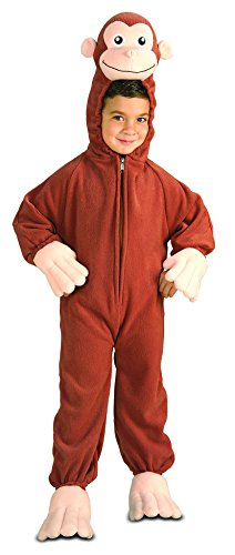 [Rubie's Costume Curious George Fleece Child's Costume, Medium] (Tv Movie Childrens Costumes)