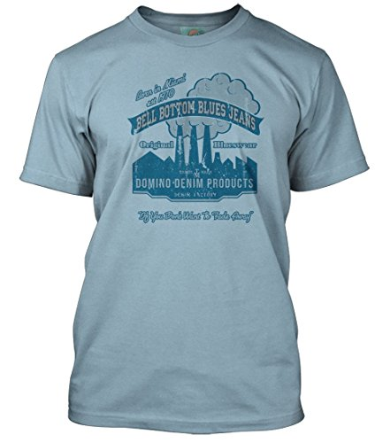 - BathroomWall T-shirts Derek and The Dominoes Inspired Bell Bottom Blues, Men's T-Shirt, Large, Light Blue