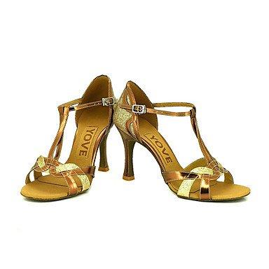 Eu38 Xiamuo Profissional Uk5 Mulheres Dança Us7 5 5 Prata De 38 Customizável Sapatos Cn SFwHc1qzS