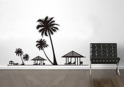 Amazoncom Salala Beach Wall Decal Tropical Hawaiian Wall Sticker