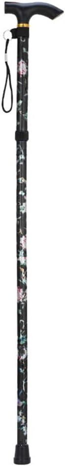 LZDseller01 Bastón Ajustable con Mango Inteligente, bastón Plegable de Color, bastón Ajustable para Hombres, Mujeres, Artritis, Personas Mayores, discapacitados y Ancianos