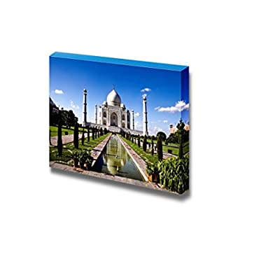Canvas Prints Wall Art - White Marble Taj Mahal in India | Modern Home Deoration/Wall Art Giclee Printing Wrapped Canvas Art Ready to Hang - 24