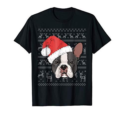 French Bulldog Christmas Ugly Sweater Style T-shirt