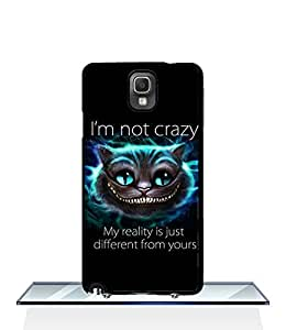 Personalized Samsung Note 3 Funda Case Disney Alice in Wonderland Cheshire Cat - Vintage Pattern Drop Protection Dust-proof Anti Dust Back Film Protector Skin for Samsung Galaxy Note 3