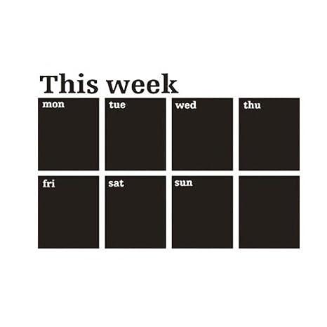 VivReal Planificador Semanal calendario y pizarra, adhesivo mural