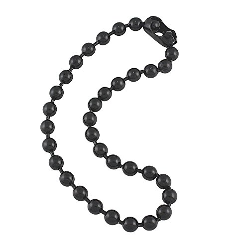 9.5mm Extra Large Gunmetal Steel Ball Chain Mens Necklace with Extra Durable Color Protect Finish - 18 inches ()