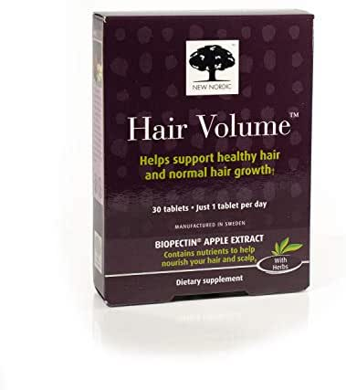 New Nordic Hair Volume w/Apple Extract, 30 Tablets (Pack of 6)
