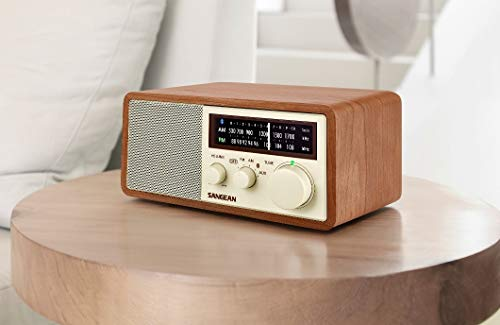 Sangean WR-16 AM/FM/Bluetooth Wooden Cabinet Radio with USB Phone Charging by Sangean (Image #2)