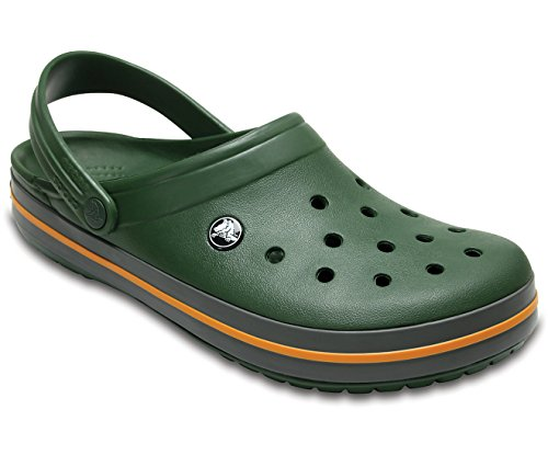 Crocs Crocband Unisex Clog, Forest Green/Slate Grey, 6 M US Mens/8 M US Women