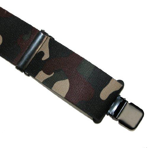 CTM 2 Camo Pattern Suspenders, Green