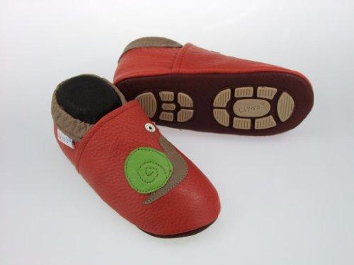 Liya's  Schnecke in rot, Chaussures souple pour bébé (garçon)