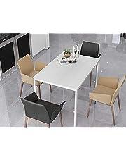 "Can-Bramar Glassara Dining Table (White, Rectangular (43.5"" x 29.5"") (110 cm x 75 cm))"