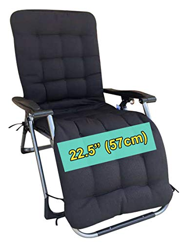 Four Seasons BeiJiaEr Series (Cushion ONLY) Oversized XL Extra Wide Cushion ONLY for Extra Wide Zero Gravity Chair Lounge (for Chair Seat Width : 22.5