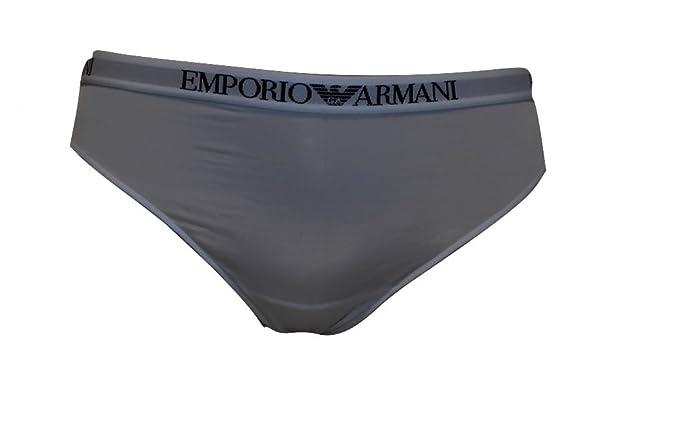 EMPORIO ARMANI UNDERWEAR 1624687p235-tanga Mujer Bianco SCRITTA NERA Small