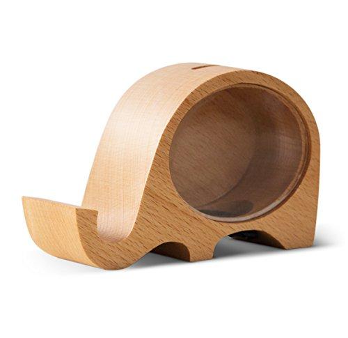 nk, Mobile Phone Holder, Beech Wood Creative Change Box, Home Furnishing Decorative Ornaments ()