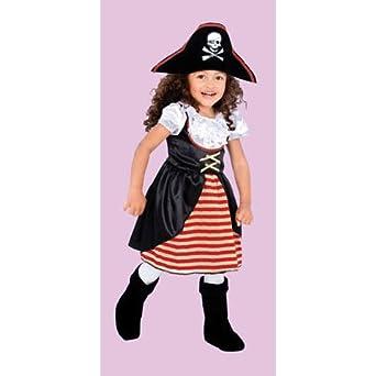 Amazon.com: Disfraz de pirata para niña – bebé pequeño 1 – 2 ...