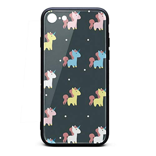 Unicorn Ideas iPhone 7,iPhone 8 Phone case - Full Protective Anti-Scratch Resistant Cover Case ()
