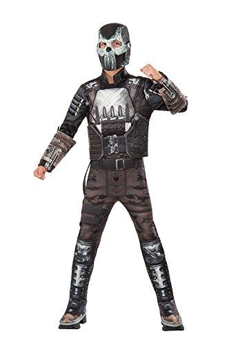 Iron Costume Man Gray (Rubie's Costume Captain America: Civil War Crossbones Deluxe Muscle Chest Child Costume,)