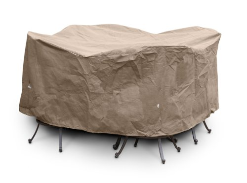 KoverRoos III 35252 Large Bar Set Cover, 84-Inch Diameter by 40-Inch Height, Taupe