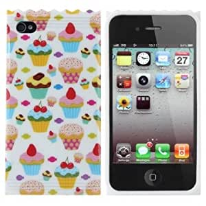 Fruit Cake And Candy Design TPU Hard Back Case For iPhone 5 5S