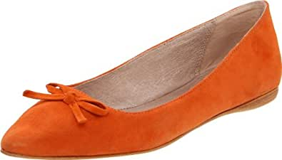 MIA Limited Edition Women's Audrey Ballet Flat,Orange Suede,7 M US