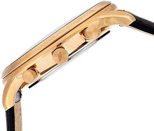 Fossil Homme Chronographe Quartz Montre avec Bracelet en Cuir FS5381
