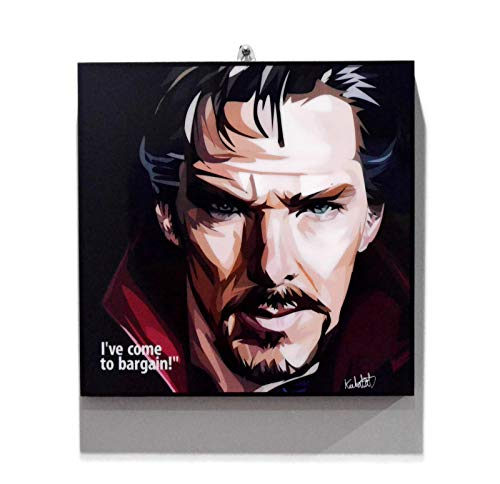 Pop Art Marvel Superhero Quotes [ Doctor Strange ] Avengers Framed Acrylic Canvas Poster Prints Artwork Modern Wall Decor, 10