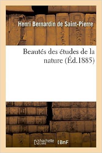 Beautés des études de la nature pdf ebook