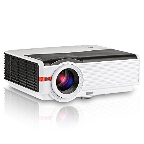 Home Projector- LED Video Projector 4200 Lumens with Free HDMI- Support 1080P for Home Cinema Theater TV Laptop Game iPad iPhone Android Smartphone Computer