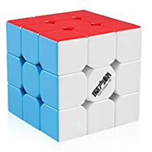 D-FantiX Qiyi MoFangGe Thunderclap Speed Cube 3x3 Stickerless Smooth Magic Cube Puzzle 57mm