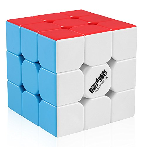 D-FantiX Qiyi Thunderclap 3x3 Speed Cube Stickerless Smooth Magic Cube Puzzle 57mm