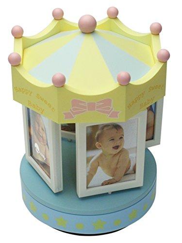 Porta Retrato Carrossel Infantil Plástico para 8 Fotos Dynasty Azul