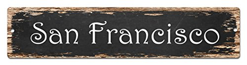 San Francisco Sign Vintage Rustic Street Sign Plate Beach Bar Pub Cafe Restaurant shop Home Room Wall Door Decor sign Digital - Francisco San Street Beach