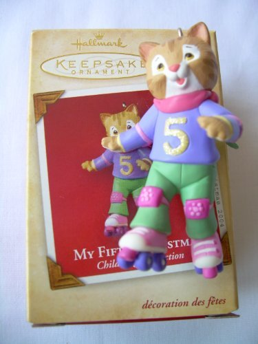 Hallmark Childs Fifth Christmas Ornament (2004 Hallmark Ornament My Fifth Christmas Child's Age Collection)