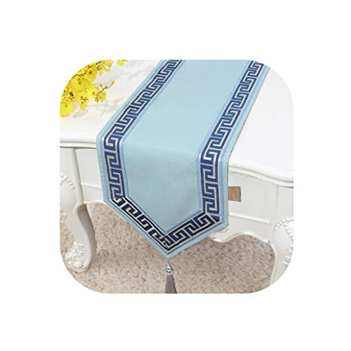 Wenzi-day Simple Linen Table Flag Bed Runner Tablecloth Tea Table TV Cabinet Cover Cloth Custom,33x100cm,015 (Tablecloths Thanksgiving Target)