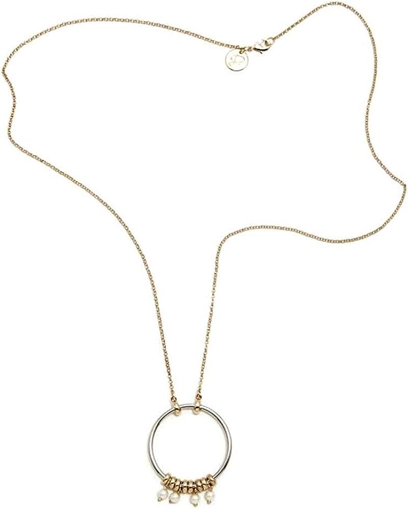 Collar Pertegaz Colección Ronda Cadena 92cm. Mujer Aro 50mm. Motivos Aros Pequeños Perlas Sintéticas