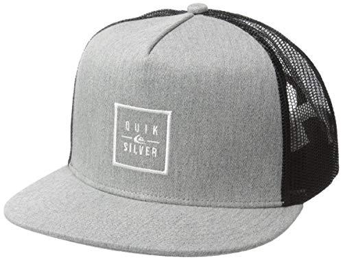 Quiksilver Men's Clip Charger Trucker HAT, Medium Grey Heather, 1SZ