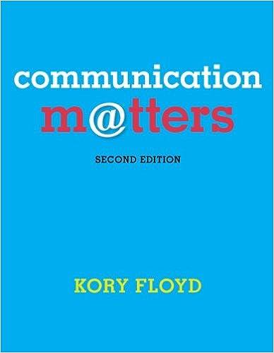 communication matters 2nd edition free