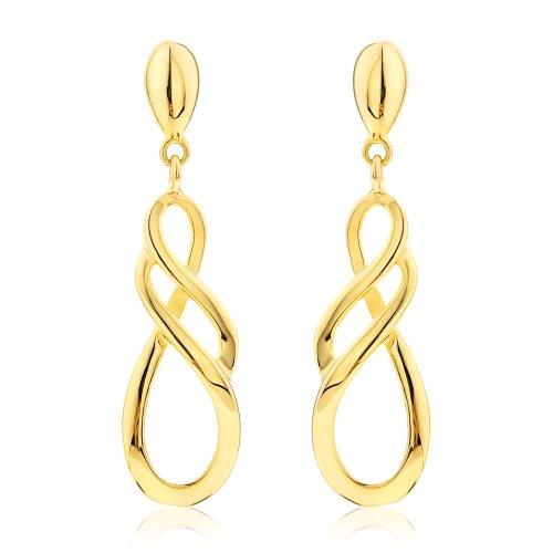 Boucles d'Oreilles Pendantes - Femme - Or jaune (9 carats) 2.43 Gr