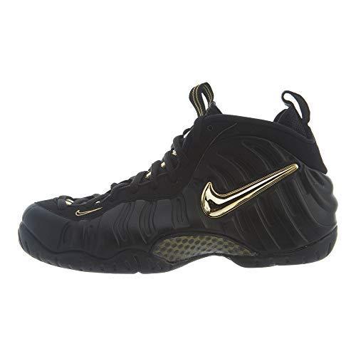 Nike Air Foamposite Pro Mens 624041-009 Size 7 Black/Metallic Gold