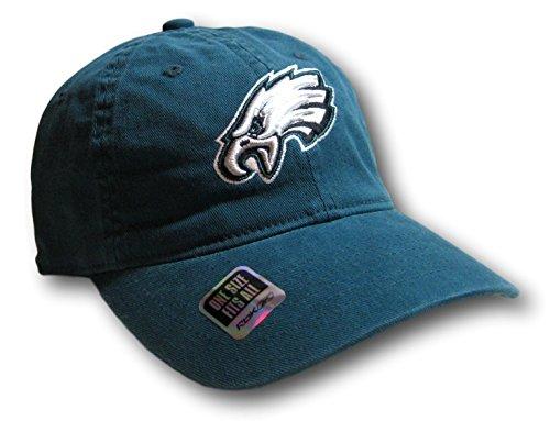 Fan Apparel Philadelphia Eagles Green Slouch Style Flex Fit Hat Lid Cap ()