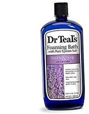 Dr Teal's Foaming Bath with Pure Epsom Salt, Soothe & Sleep with Lavender,