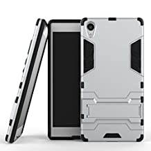 BCIT Sony Xperia Z5 Premium Case - Dual Layer Full Body Shock Resistant Armour Case Cover for Sony Xperia Z5 Premium - Silver