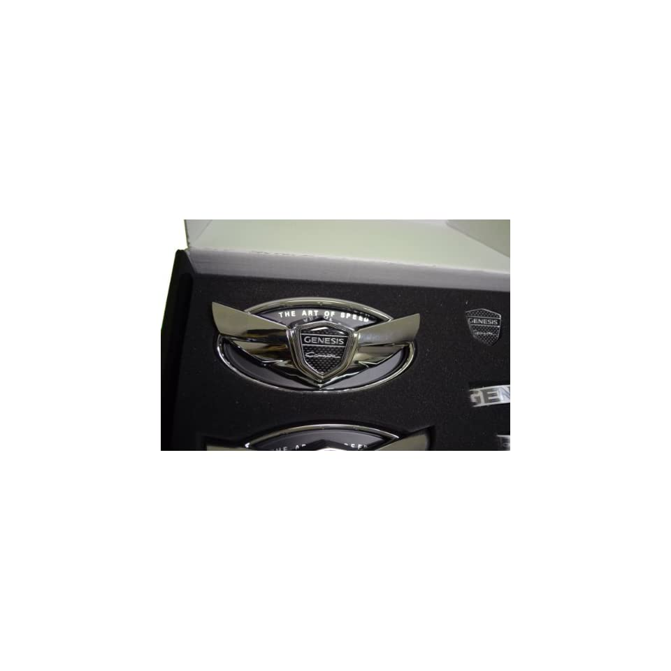 Hyundai Genesis Coupe Wing Emblem in Chrome Fits 2010 2011 2012 2013
