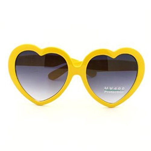 FBrand Fashion Large Women Lady Girl Oversized Heart Shaped Retro Sunglasses Cute Love Eyewear - Pink Shaped Heart Sunglasses