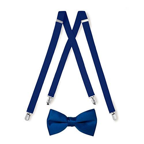 Suspender & Bow Tie Set (Kids, Royal Blue)